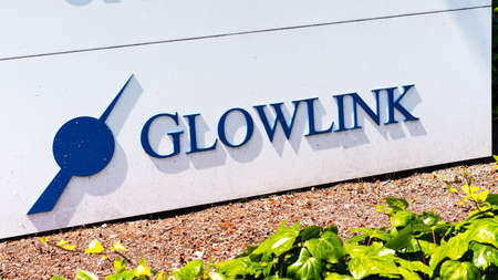 Aug 3, 2020 Mountain View / CA / USA - Glowlink logo at the Silicon Valley headquarters; Glowlink Communications Technology, Inc (part of ST Engineering group) offers satellite communications services 新闻类图片