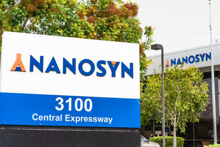 September 8, 2020 Santa Clara / CA / USA - Nanosyn headquarters in Silicon Valley; Nanosyn Inc provides drug discovery services and markets its products and services to pharmaceutical companies 報道画像