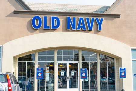 September 15, 2020 Redwood City / CA / USA - Old Navy store in San Francisco Bay Area; Old Navy is an American clothing and accessories retailing company owned by the American corporation Gap Inc