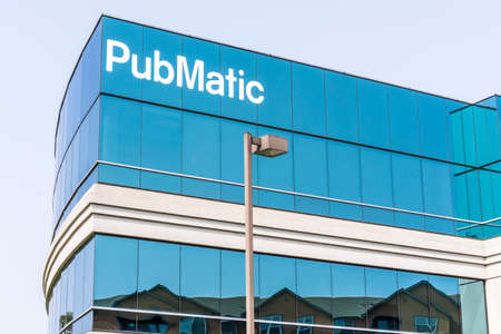 September 15, 2020 Redwood City / CA / USA - Pubmatic headquarters in Silicon Valley; PubMatic develops and implements online advertising software and strategies 報道画像