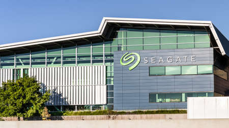September 23, 2020 Fremont / CA / USA - Seagate headquarters in Silicon Valley; Seagate Technology PLC is an American data storage company