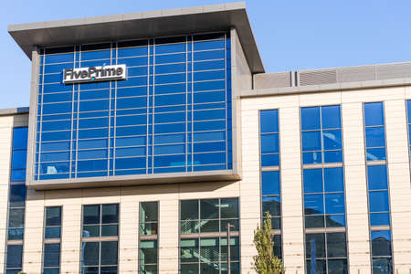 Sep 21, 2020 South San Francisco / CA/ USA - Five Prime Therapeutics headquarters in Silicon Valley; Five Prime Therapeutics, Inc. provides clinical stage biotechnology services