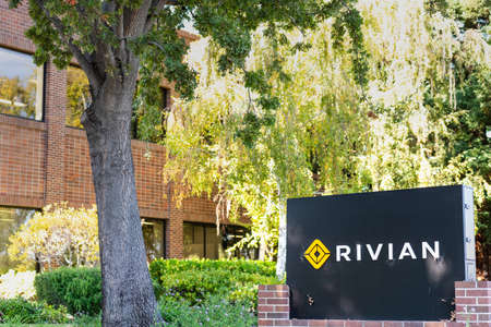 Sep 29, 2020 Palo Alto / CA / USA - Rivian headquarters in Silicon Valley; Rivian Automotive Inc is an American automaker and automotive technology company that develops electric vehicles