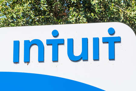 Sep 29, 2020 Mountain View / CA / USA - Intuit logo at their Silicon Valley headquarters; Intuit Inc is an American company that develops and sells financial, accounting and tax preparation software