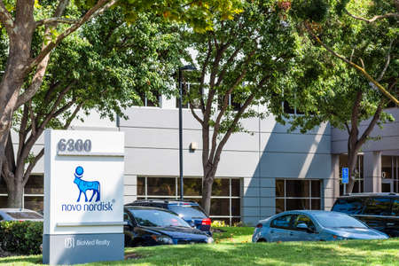 Sep 17, 2020 Fremont / CA / USA - Novo Nordisk headquarters in Silicon Valley; Novo Nordisk A/S is a Danish multinational pharmaceutical company