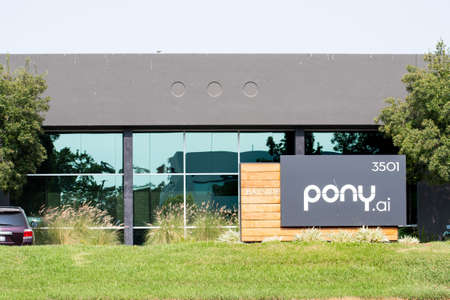 Sep 17, 2020 Fremont / CA / USA - Pony.ai headquarters in Silicon Valley; Pony.ai is an autonomous vehicle technology company co-located in Silicon Valley, Beijing and Guangzhou