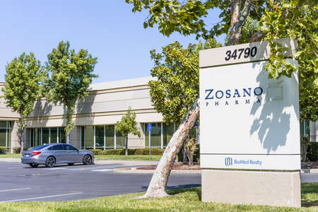 Sep 17, 2020 Fremont / CA / USA - Zosano Pharma headquarters in Silicon Valley; Zosano Pharma Corporation provides biopharmaceutical products and services 新闻类图片