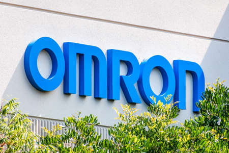 Sep 17, 2020 Fremont / CA / USA - OMRON sign at their headquarters in Silicon Valley; Omron Corporation is a Japanese electronics company generally known as a producer of medical equipment