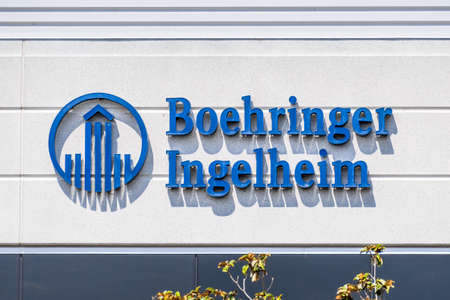 Sep 17, 2020 Fremont / CA / USA - Boehringer Ingelheim logo at the Silicon Valley headquarters; Boehringer Ingelheim is one of the world's largest pharmaceutical companies, and the largest private one