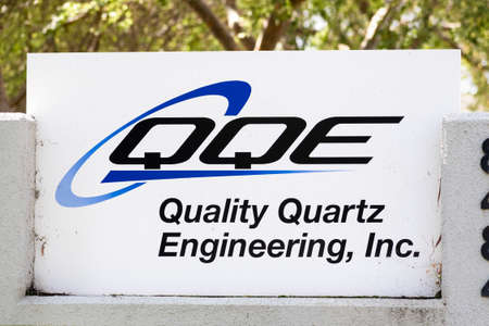 Sep 17, 2020 Newark / CA / USA - Quality Quartz Engineering sign at their headquarters in Silicon Valley; Quality Quartz Engineering Inc is a build-to-order company that machines quartz glass