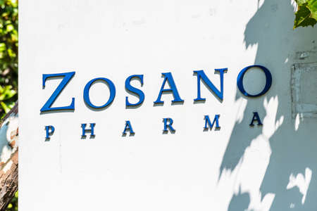 Sep 17, 2020 Fremont / CA / USA - Zosano Pharma logo at their headquarters in Silicon Valley; Zosano Pharma Corporation provides biopharmaceutical products and services 新闻类图片
