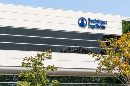Sep 17, 2020 Fremont / CA / USA - Boehringer Ingelheim headquarters in Silicon Valley; Boehringer Ingelheim Group is one of the world's largest pharmaceutical companies, and the largest private one 新闻类图片