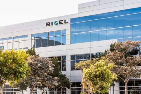 Sep 21, 2020 South San Francisco / CA / USA - Rigel HQ in Silicon Valley; Rigel is a biotechnology pharma company whose drug, fostamatinib, is being evaluated for the treatment of COVID-19 pneumonia