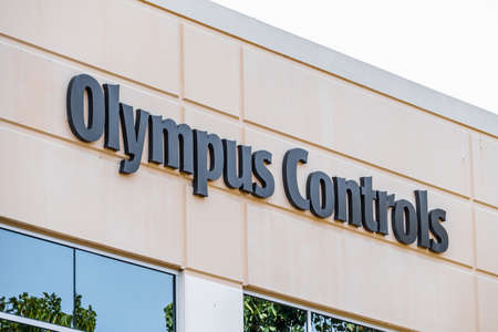 Sep 17, 2020 Fremont / CA / USA - Olympus Controls logo at their headquarters in Silicon Valley; Olympus Controls Corporation was acquired by Applied Industrial Technologies in 2019
