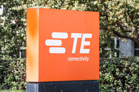 Sep 17, 2020 Fremont / CA / USA - TE Connectivity logo at their Silicon Valley HQ; TE Connectivity Ltd. is an American technology company that designs and manufactures connectivity and sensor products