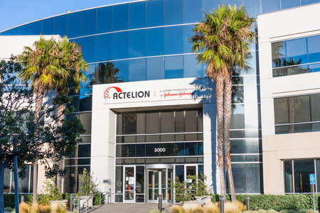 Sep 21, 2020 South San Francisco / CA / USA - Actelion headquarters in Silicon Valley; Actelion is a pharmaceuticals and biotechnology company part of Johnson & Johnson group 新闻类图片