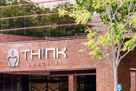 Sep 17, 2020 Fremont / CA / USA - Think Surgical headquarters in Silicon Valley; Think Surgical, Inc. develops, manufactures, and markets robotic surgical systems