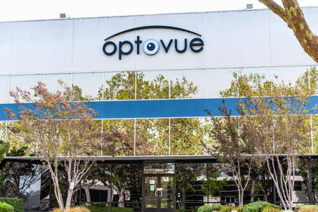 Sep 17, 2020 Fremont / CA / USA - Optovue headquarters in Silicon Valley; Optovue, Inc. designs and distributes ophthalmic devices