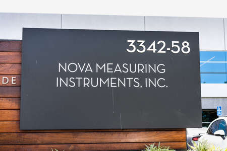 Sep 17, 2020 Fremont / CA / USA - Nova sign at their headquarters in Silicon Valley; Nova Measuring Instruments Ltd manufactures metrology devices used in semiconductor manufacturing