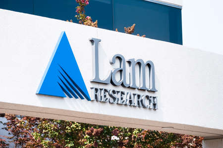 Sep 17, 2020 Fremont / CA / USA - Lam Research logo at their headquarters in Silicon Valley; Lam Research Corporation is an American corporation that operates in the semiconductor industry