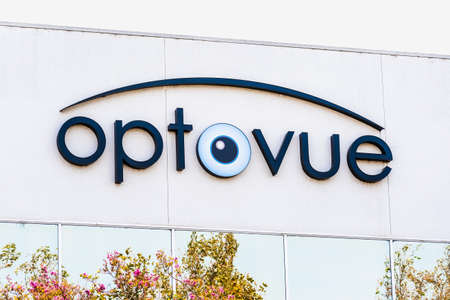 Sep 17, 2020 Fremont / CA / USA - Optovue logo at their headquarters in Silicon Valley; Optovue, Inc. designs and distributes ophthalmic devices 新闻类图片