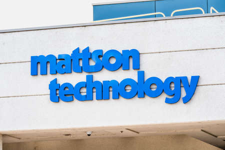Sep 17, 2020 Fremont / CA / USA - Mattson Technology logo at the Silicon Valley headquarters; Mattson Technology Inc is an American technology company operating in the  semiconductor equipment market 新闻类图片