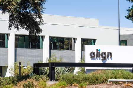 Sep 18, 2020 San Jose / CA / USA - Align headquarters in Silicon Valley; Align Technology is a manufacturer of 3D digital scanners and the Invisalign clear aligners used in orthodontics Editorial