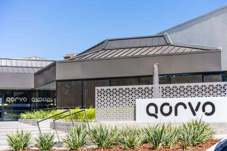 Sep 18, 2020 San Jose / CA / USA - Qorvo headquarters in Silicon Valley; Qorvo Inc manufactures analog and mixed signal integrated circuits used for wireless communications applications Editorial