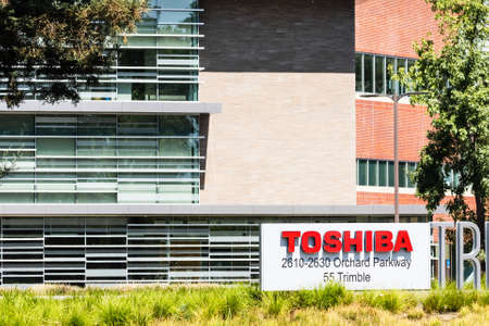 Sep 18, 2020 San Jose / CA / USA - Toshiba America Electronic Components headquarters in Silicon Valley; Toshiba Corporation is a Japanese multinational conglomerate