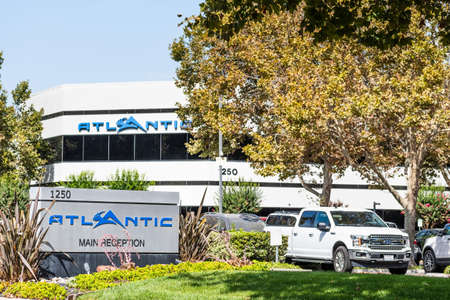 Sep 25, 2020 San Jose / CA / USA - Atlantic Aviation headquarters in Silicon Valley; Atlantic Aviation is an aviation services company that operates a chain of Fixed-Base Operator facilities
