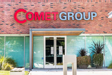 Sep 18, 2020 San Jose / CA / USA - Comet Group Lab One innovation center in Silicon Valley; Comet Group provides X-ray, radio frequency (RF) power, and ebeam technology solutions Editorial