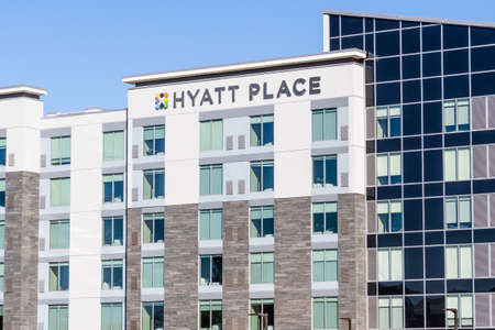 Nov 27, 2020 San Jose / CA / USA - Hyatt Place San Jose Airport hotel in Silicon Valley; Hyatt Place brand is designed as a limited service offering for business travelers Editorial
