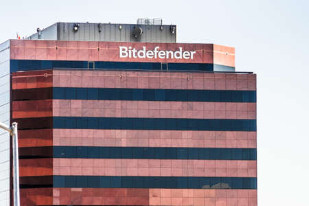 Oct 11, 2020 Santa Clara / CA / USA - Bitdefender headquarters in Silicon Valley; Bitdefender SRL is a Romanian cybersecurity technology company