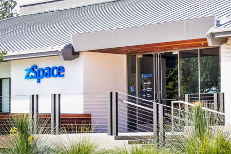 Sep 18, 2020 San Jose / CA / USA - zSpace headquarters in Silicon Valley; zSpace Inc develops technology that combines elements of virtual and augmented reality