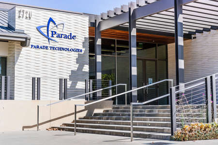 Sep 18, 2020 San Jose / CA / USA - Parade Technologies headquarters in Silicon Valley; Parade Technologies is a Taiwanese fabless semiconductor company Editorial