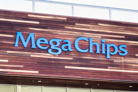 Sep 18, 2020 San Jose / CA / USA - MegaChips logo at their headquarters in Silicon Valley; MegaChips Corporation is a Japanese company that provides chip solutions
