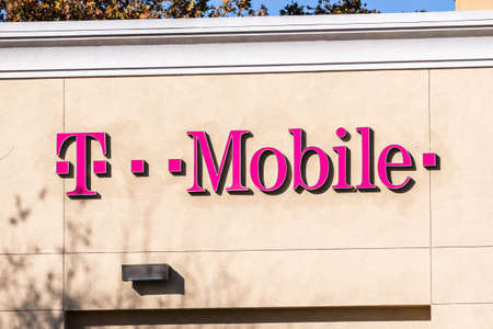 Dec 4, 2020 Antioch / CA / USA - Close up of T-Mobile sign at one of the stores in San Francisco bay area Editorial
