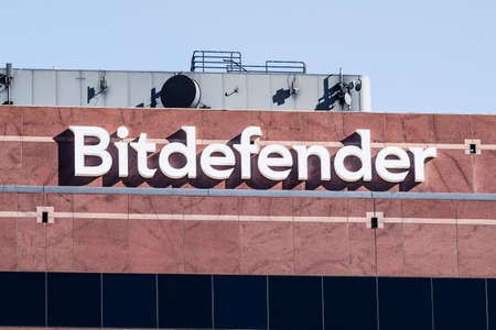 Nov 27, 2020 Santa Clara / CA / USA - Bitdefender logo at their headquarters in Silicon Valley; Bitdefender SRL is a Romanian cybersecurity technology company Editorial