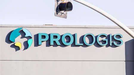 Sep 21, 2020 South San Francisco / CA / USA - Prologis logo displayed at one of their properties; Prologis, Inc. is a real estate investment trust