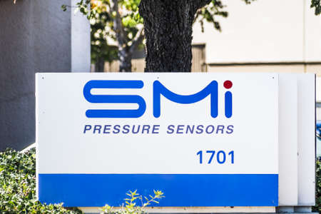 Sep 24, 2020 Milpitas / CA / USA - SMI logo at their headquarters in Silicon Valley; Silicon Microstructures Inc. (SMI), a semiconductor sensor company, was acquired by TE Connectivity in 2019
