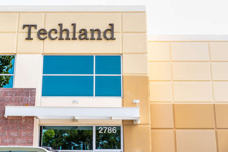 Sep 17, 2020 Fremont  CA  USA - Techland headquarters in  Silicon Valley; Techland Associates, Inc. provides wholesale distribution of computers, computer peripheral equipment, and computer software Editorial