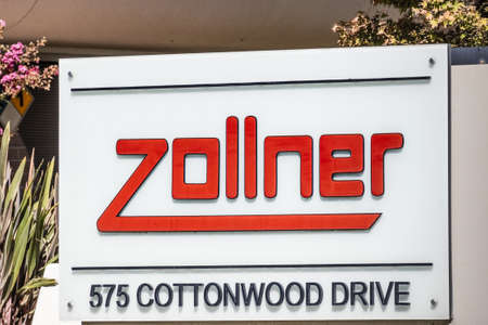 Sep 24, 2020 Milpitas / CA / USA -  Zollner logo at their Silicon Valley headquarters; Zollner Elektronik AG is a service provider in the field of contract manufacturing of electronic components (EMS) Editorial