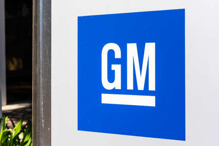 Sep 26, 2020 Sunnyvale / CA / USA - GM logo displayed at the General Motors Advanced Technical Center located in Silicon Valley;