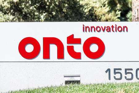 Sep 24, 2020 Milpitas / CA / USA - Onto Innovation logo at their headquarters in Silicon Valley; Onto Innovation Inc. is an American semiconductor company