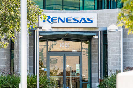 Sep 24, 2020 Milpitas / CA / USA - Renesas headquarters in Silicon Valley; Renesas Electronics Corporation is a Japanese semiconductor manufacturer Editorial