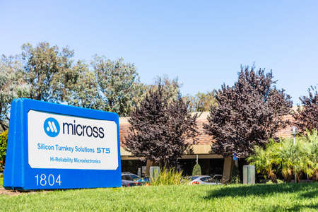 Sep 24, 2020 Milpitas / CA / USA - Micross  headquarters in Silicon Valley; Micross Components, acquired by Corfin Industries, provides specialty electronics solutions for various industries Editorial