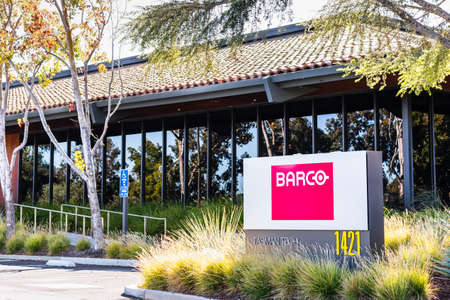 Sep 24, 2020 Milpitas / CA / USA - Barco headquarters in Silicon Valley; Barco NV is a Belgian technology company that specializes in digital projection and imaging technology