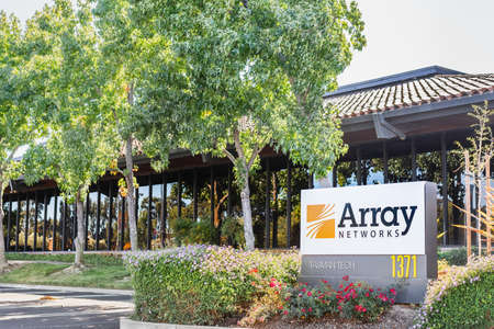 Sep 24, 2020 Milpitas / CA / USA - Array Networks headquarters in Silicon Valley; Array Networks Inc is an American networking hardware company that develops traffic encryption tools