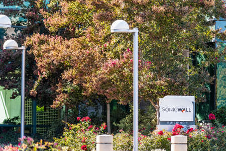Sep 24, 2020 Milpitas / CA / USA - SonicWall headquarters in Silicon Valley; SonicWALL Inc manufactures network security and data protection products