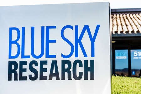 Sep 24, 2020 Milpitas  CA  USA - Blue Sky Research headquarters in Silicon Valley; Blue Sky Research engineer and manufacture custom semiconductor laser modules and systems Editorial
